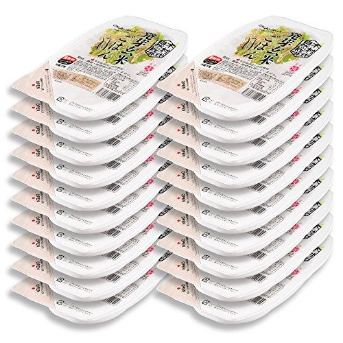 岡山県産木村式自然栽培米朝日「発芽玄米ごはん」20パック