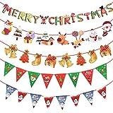 SANLANDOR クリスマス 飾り 47ピース 5種セット クリスマスツリー 壁飾り トナカイ 靴下 ツリー オーナメント 店舗用品 ディスプレイ