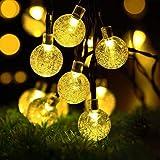 ソーラー LED ストリングライト イルミネーションライト 50電球 7M IP65防水 8モード 夜間自動点灯 キャンプ用 ガーランドライト クリスマス/ハロウィン/パーティー/バレンタインデー/新年/祝日/結婚式/学園祭屋外/室外/室内/庭対応