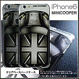 iPhone6sケース ユニオンジャック モノト-ン MINICOOPER ( ミニクーパ ) イラスト プリントアップルマークが活かせます 170