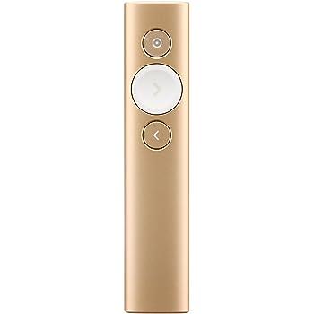 Logicool ロジクール R1000GD SPOTLIGHT ゴールド 充電式 プレゼンリモート PC/タブレット対応 PowerPoint、Keynote、Google Slides等対応