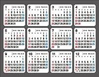 2018年 何度でも貼ってはがせる シールカレンダー ([カレンダー])
