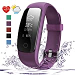 Fitness Tracker HR, 007plus D107Plus Heart Rate Monitor Fitness Smart Watch Activity Tracker with Sleep Monitor Pedometer...