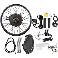 Ebikeモーターキット、電動自転車48V 1000Wハブモーター変換キットホイール26x4インチ、モーター変換キット…