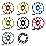 (フォーリアーズ/FOURIERS)(自転車用パーツ)MTB スプロケット CR-DX004 (歯数) 40T (カラー) オレンジ