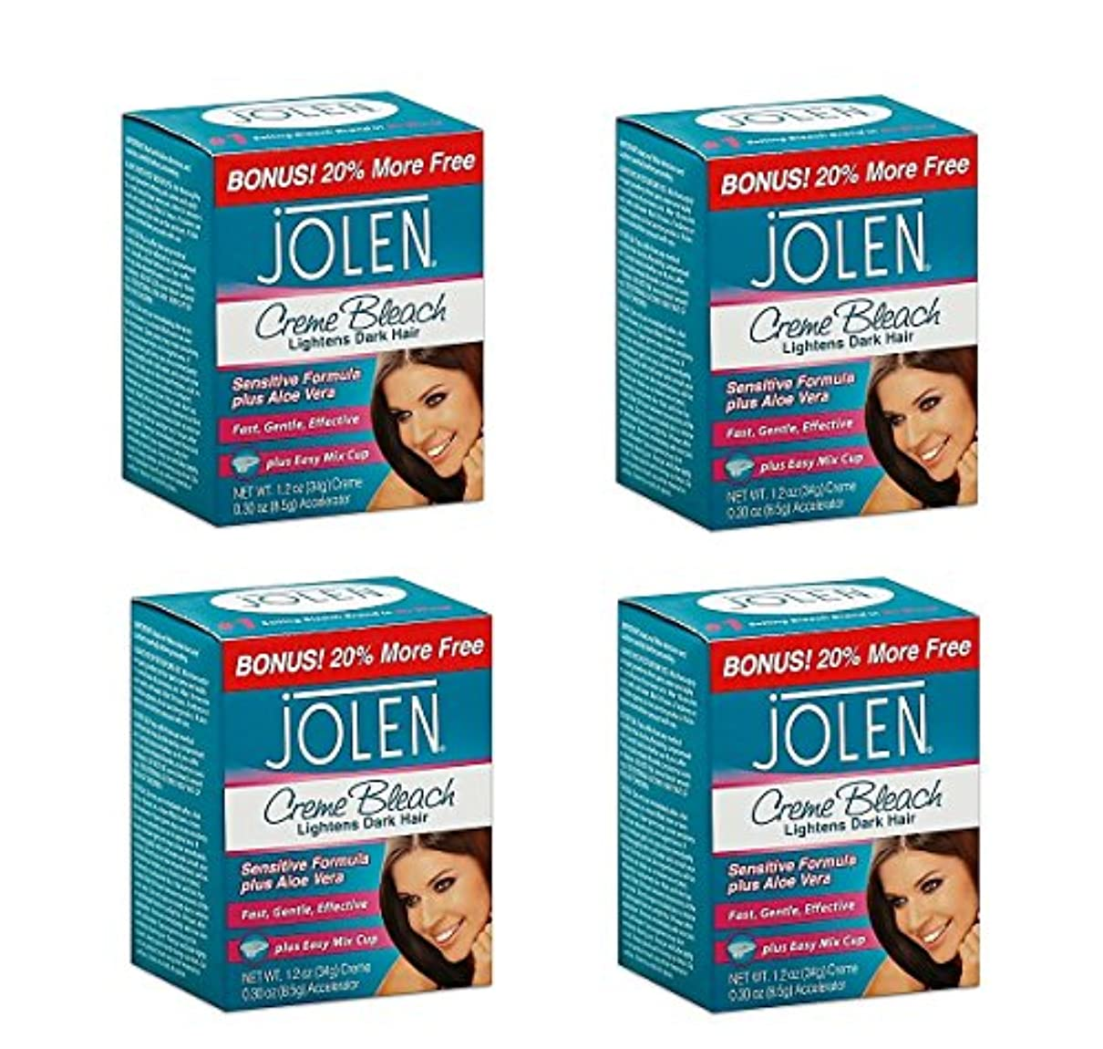 近く面白い不一致Jolen ジョレン 眉用ブリーチクリーム マイルド 4個セット 【並行輸入品】