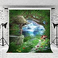 Little Lucky 10x10ft/3x3m 子供のためのおとぎ話写真の背景パーティーおとぎの森の背景写真ブースグリーンツリーの背景スタジオプロップ