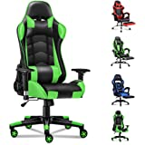 ALFORDSON Gaming Chair Racing Chair Executive Sport Office Chair PU Leather Armrest Headrest Home Chair (Regan Green)