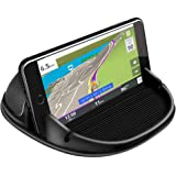 Car Phone Holder, Cell Phone Car Mount Holder with Silicone Non Slip Mat & Storage Function Cradle Dock, for iPhone X/8 Plus/