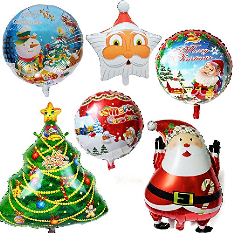UniqueMall 風船 バルーン クリスマス 飾り 豪華 飾り付け 6 セット