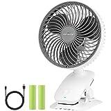【自動首振り&超静音】KEYNICE 扇風機 小型 充電式 卓上扇風機 usb扇風機 クリップ リズム風搭載 ミニ扇風機 超強風 大容量バッテリー 風量3段階調節 長時間連続使用 ホワイト