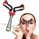 Emirde Adjustable eyebrow shaper stencil Makeup Model Template Reusable Tool for women Eyebrow Shaping Kit Black