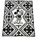 ペンドルトン PENDLETON ウール ブランケット ディズニー コラボ 136cm×163cm ZK930 53512 DISNEY 039 S MICKEY THROW ミッキー ブラック ホワイト 並行輸入品