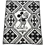 [ペンドルトン]PENDLETON ウール ブランケット ディズニー コラボ 136cm×163cm ZK930 53512 DISNEY'S MICKEY THROW ミッキー ブラック ホワイト [並行輸入品]
