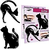 2 in 1 Cat Eyeliner Stencil Smoky Eyeshadow Applicators Eyeliner Template Plate Matte PVC Material Professional Multifunction