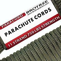 Brotree パラコード 5mm ガイロープ 750ポンド(耐荷重340kg) 11芯 テント ロープ 50フィート(15m) ガイ ライン アウトドア キャンプ サバイバル 吹雪強風対策固定用ひも