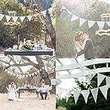 Demiawaking イベント 誕生日 結婚式 飾り パーティー小物 三角旗 ガーランド 写真撮影 飾り 10タイプ (ホワイトレース4)