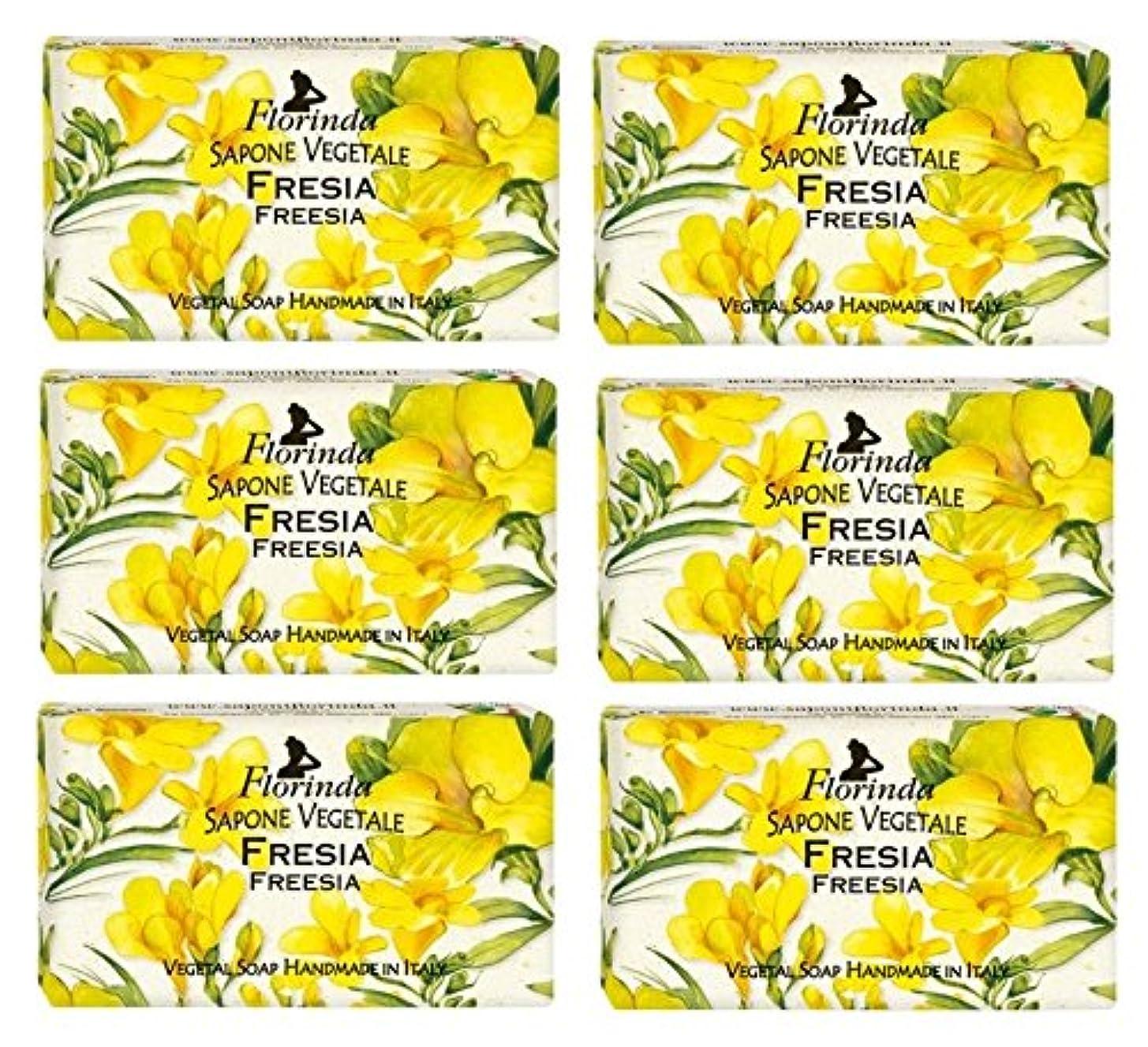 薬剤師メカニック自然公園【6個セット】 フロリンダ フレグランスソープ 95g フリージア