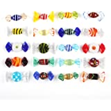 Trolleyshop Boutique Handmade 20pcs Vintage Murano Style Various Glass Sweets Candy Ornament for Home Party Wedding Christmas