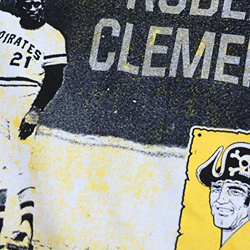Majestic(マジェスティック) MLB ピッツバーグ・パイレーツ ロベルト・クレメンテ ジェニュイン プレイヤー Tシャツ (ブラック) - L [並行輸入品]