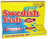 【海外直送】Swedish Fish, レッドソフト & チューイー シアター ボックス キャンディ, 3.1オンス (2個セット)