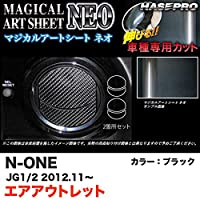 ハセプロ MSN-AOH6 N-ONE JG1/JG2 H24.11~ マジカルアートシートNEO エアアウトレット ブラック カーボン調シート