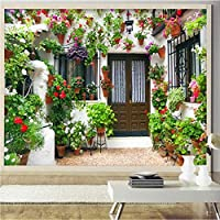 Wxmca 写真壁紙カスタムプライベートガーデン3Dステレオウォール壁紙リビングルームレストランカフェ壁画家の装飾-120X100Cm