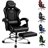 ALFORDSON Gaming Chair Racing Chair Executive Sport Office Chair with Footrest PU Leather Armrest Headrest Home Chair (Volger