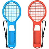 Tennis Racket for Nintendo Switch Joy-Con Controller,Accessories for Nintendo Switch Game Mario Tennis Aces Blue and Red - On