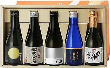 金賞受賞蔵のみ 日本酒 純米大吟醸 飲み比べセット 300ml×5本 極み 上善如水 加賀鳶 辛口