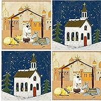 キリスト降誕 キリスト教 教会 クリスマス ナプキン 詰め合わせ バラエティーパック ドリンクペーパー ナプキン 詰め合わせ 40枚セット