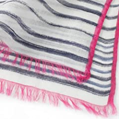 Rayon Linen Silk Scarf 1351436: Navy
