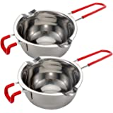 Double Boiler Stainless Steel Pot with Heat Resistant Handle,Large Capacity for Melting Chocolate, Butter, Cheese, Caramel an