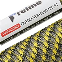 パラコード 4mm 9芯 20m 30m〔100本以上のパラコードから選んだ本物の1品〕 耐荷重250kg テント ロープ ガイロープ キャンプ アウトドア アクセサリー制作 preime