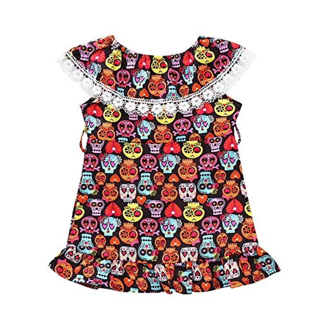 六分儀煙突ターミナルSofitoa 幼児幼児女の赤ちゃん漫画スカルプリントドレスハロウィンコスチューム衣装