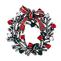 Doitsa ブローチ 胸元 中空 ラインストーン 蝶結び 輝く クリスマス用品 プレゼント ギフト キラキラ シルバー