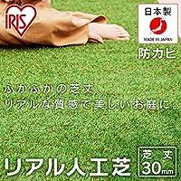 アイリスオーヤマ リアル 人工芝 国産 2×10 ロールタイプ 芝丈 3cm Uピン付属 リアル人工芝 IP-30210 スタンダード
