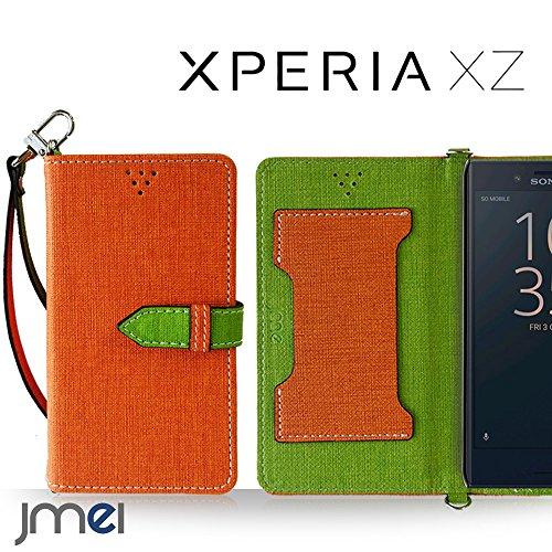 Xperia XZs SO-03J SOV35 ケース Xperia XZ SO-01J SOV34 ケース手帳型 エクスペリアxzs カバー エクスペリアxz カバー ブランド 手帳 閉じたまま通話ケース VESTA オレンジ Sony simフリー スマホ カバー 携帯ケース 手帳型 スマホケース 全機種対応 ショルダー スマートフォン
