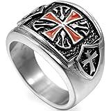 Jude Jewelers Stainless Steel Crusader Cross Ring