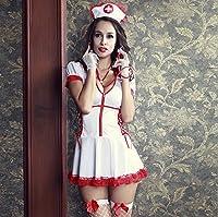 セクシー!ナース服 コスプレ レディース  ホワイト  看護婦 3点セット