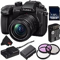 Panasonic Lumix DMC - dc-gh5ミラーレスMicro Four Thirdsデジタルカメラ(国際モデル) dc-gh5kbody + dmw-blf19リチウムイオン電池+ 128GB SDXC Class 10メモリカード+マイクロファイバー布バンドル