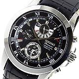 セイコー SEIKO プルミエ クロノ クオーツ メンズ 腕時計 SPC161P2 ブラック [並行輸入品]