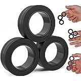 BunMo Fidget Toys - Fidget Rings Fidget Magnets Toy - 3pk