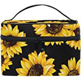 Baofu Sunflower Travel Cosmetic Bag Toiletry Bag Large Portable Hanging Multifunction Makeup Organizer Bag with Waterproof Po