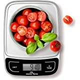 Easy@Home Digital Kitchen Scale Food Scale with High Precision to 0.04oz and 11 lbs Capacity, Digital Multifunction Measuring