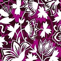ポスター ウォールステッカー 正方形 シール式ステッカー 飾り 30×30cm Ssize 壁 インテリア おしゃれ 剥がせる wall sticker poster フラワー 花 フラワー 紫 模様 パープル 007802