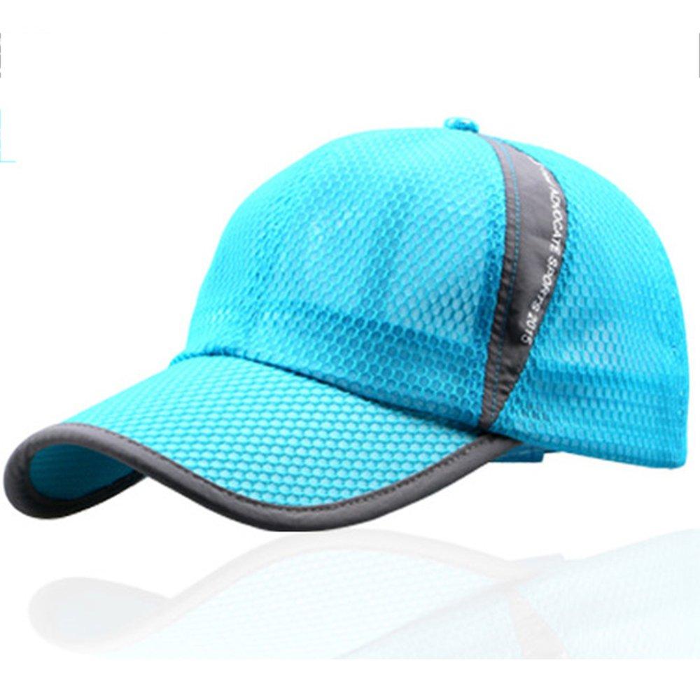 キャップ テニス 通気性良好メッシュ スポーツ ランニングキャップ 紫外線対策 カジュアル 男女兼用 (ライトブルー)