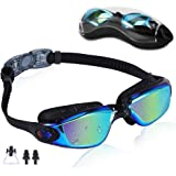 Rapidor Swim Goggles for Men Women Teens, Anti-Fog UV-Protection Leak-Proof, RP905 Series
