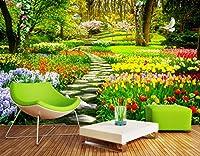 カスタム3d自然花ガーデンパス写真壁画壁紙リビングルームの寝室の家の装飾背景壁カバーpapel壁画 幅 220cm * 高さ140cm A