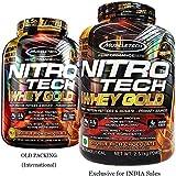 ナイトロテック100%ホエイゴールド 2.51kg (Nitrotech 100% Whey Gold 5.53Lbs) (ダブルリッチチョコレート)